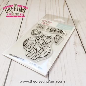 The Greeting Farm YOU'RE A GEM Clear Stamps TGF521