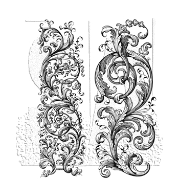 RESERVE Tim Holtz Cling Rubber Stamps 2020 BAROQUE CMS400