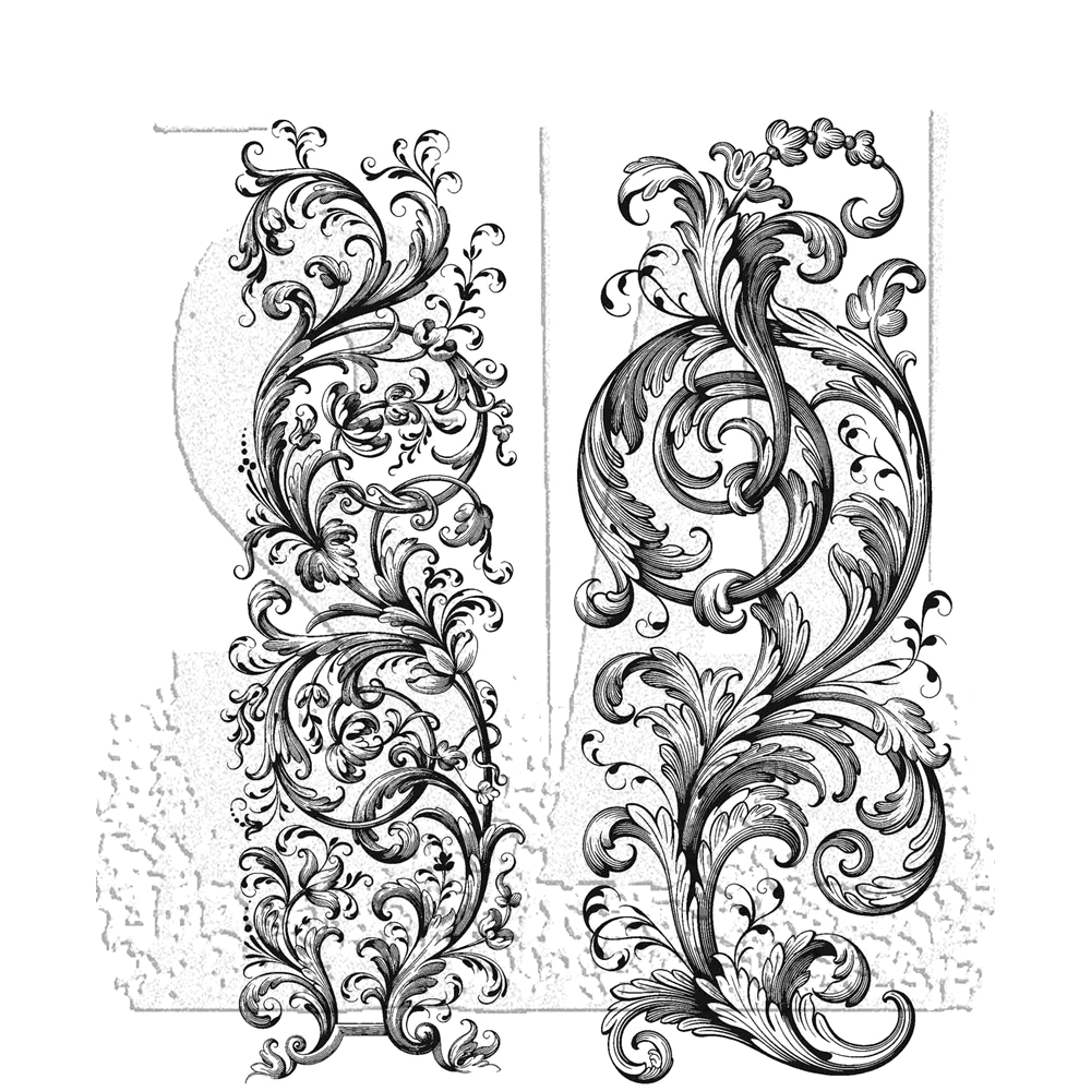 Tim Holtz Cling Rubber Stamps 2020 BAROQUE CMS400 zoom image