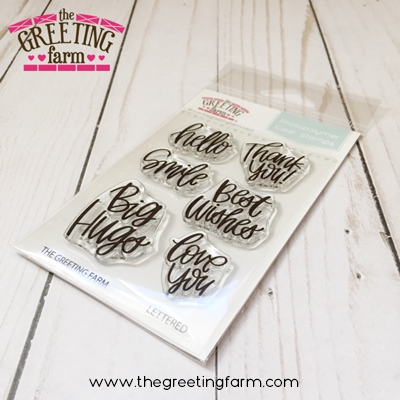The Greeting Farm LETTERED Clear Stamps TGF525 Preview Image