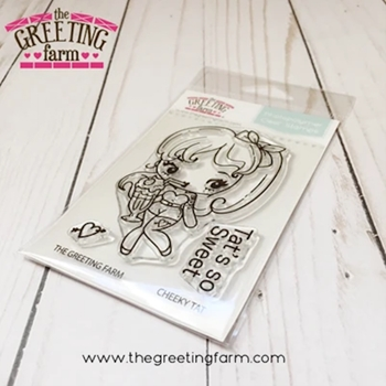 The Greeting Farm CHEEKY TAT Clear Stamps TGF527