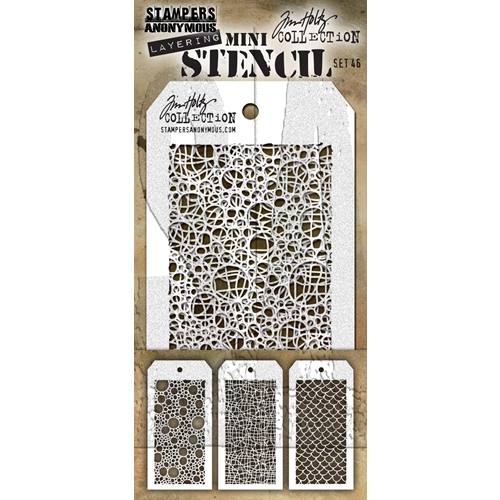 Tim Holtz MINI STENCIL SET 46 MST046 Preview Image