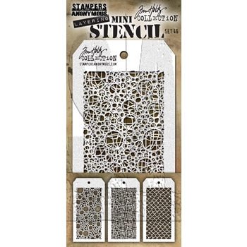 RESERVE Tim Holtz MINI STENCIL SET 46 MST046