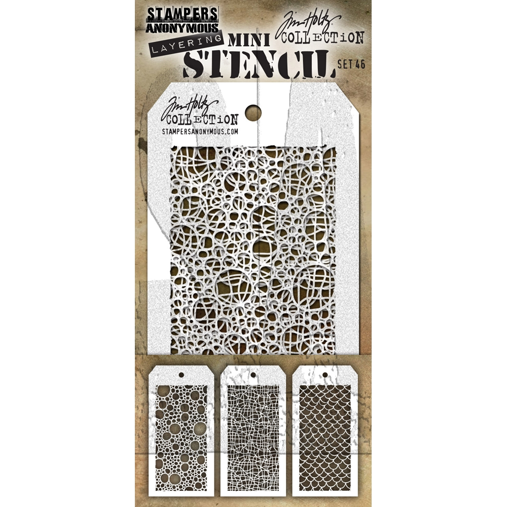 Tim Holtz MINI STENCIL SET 46 MST046 zoom image