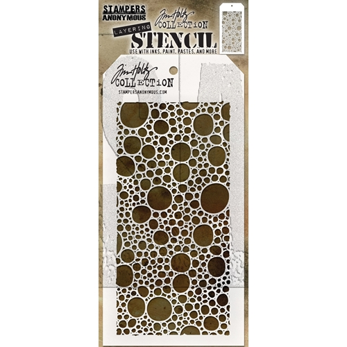 Tim Holtz Layering Stencil BUBBLES THS138 Preview Image