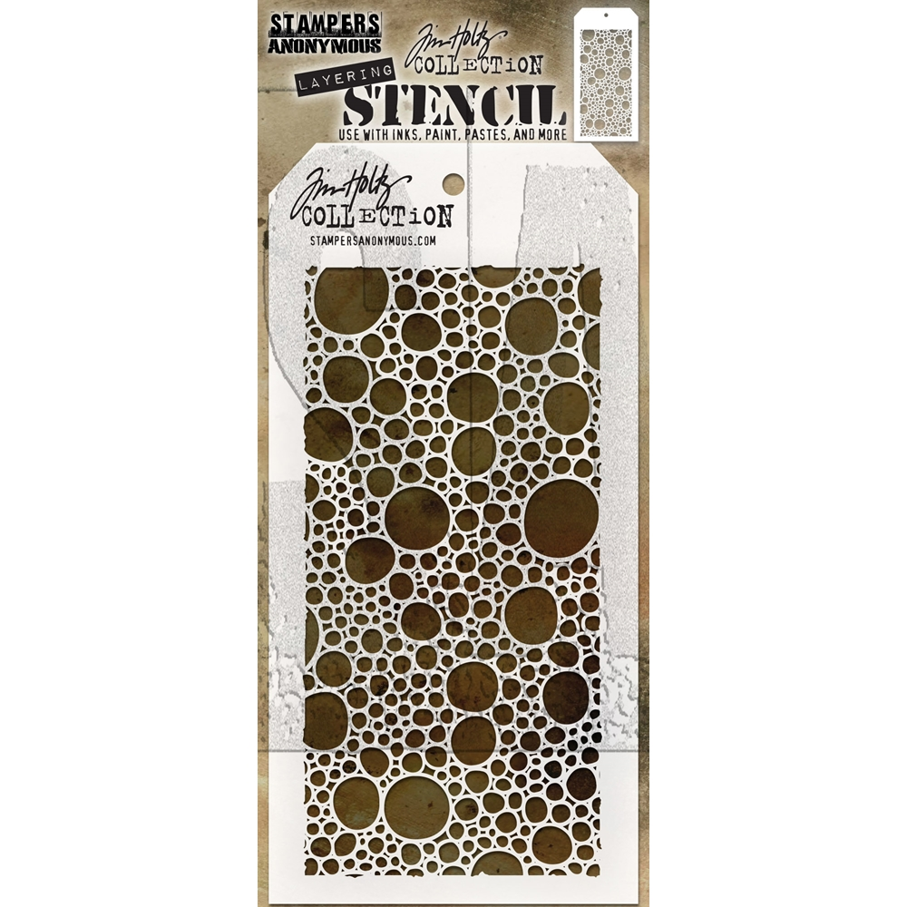 Tim Holtz Layering Stencil BUBBLES THS138 zoom image