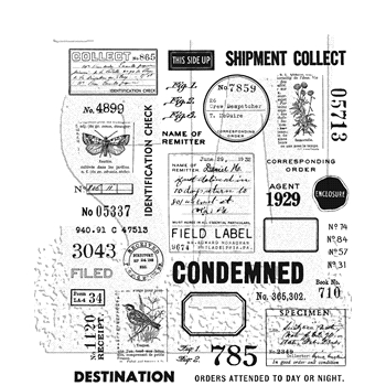 RESERVE Tim Holtz Cling Rubber Stamps 2020 FIELD NOTES CMS396