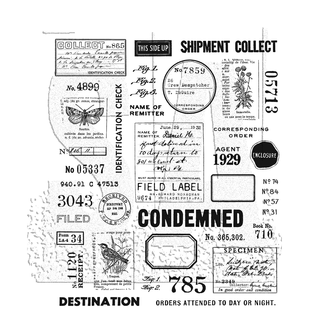 Tim Holtz Cling Rubber Stamps FIELD NOTES CMS396 zoom image