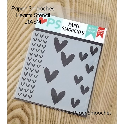 Paper Smooches HEARTS Artist Stencil J1AS14 Preview Image