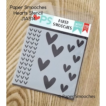 Paper Smooches HEARTS Artist Stencil J1AS14