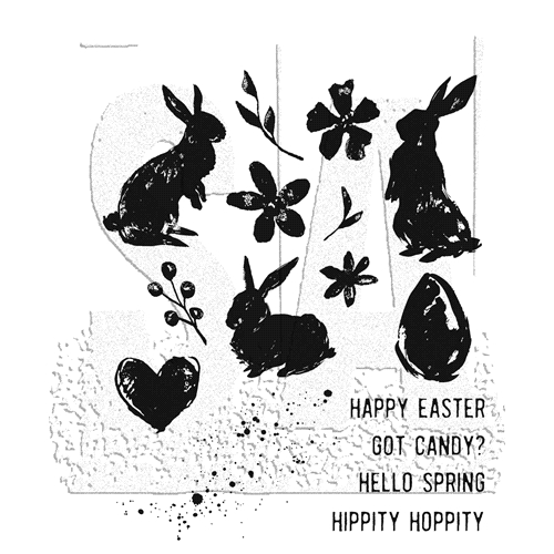 Tim Holtz Cling Rubber Stamps SPRING SHADOWS CMS393 Preview Image