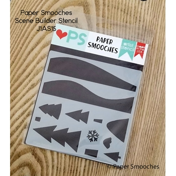 Paper Smooches SCENE BUILDER Artist Stencil J1AS15