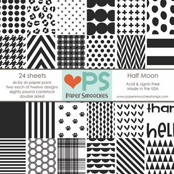 Paper Smooches HALF MOON 6x6 Inch Paper Pack PSP02