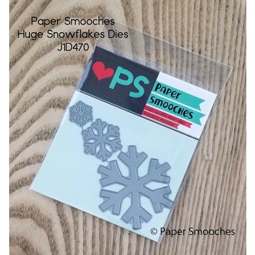 Paper Smooches HUGE SNOWFLAKES Dies J1D470 Preview Image