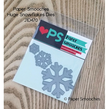 Paper Smooches HUGE SNOWFLAKES Dies J1D470