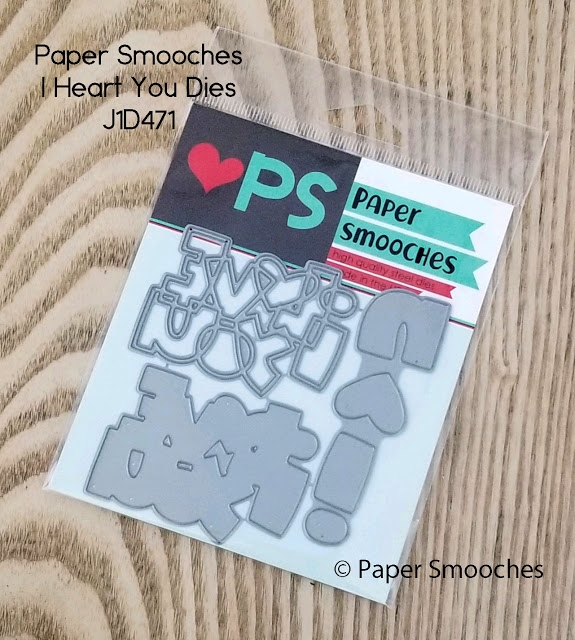 Paper Smooches I HEART YOU Dies J1D471 zoom image