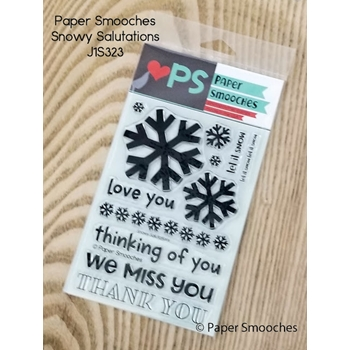 Paper Smooches SNOWY SALUTATIONS Clear Stamps J1S323