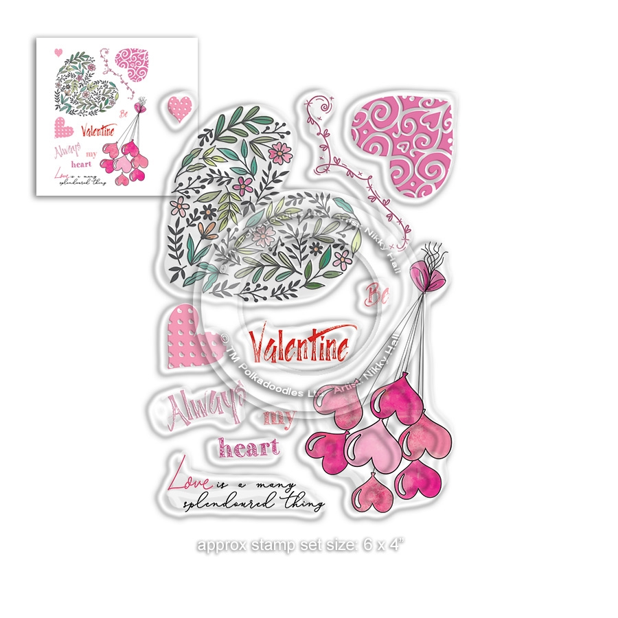 Polkadoodles SPLENDOURED LOVE Clear Stamps pd8019 zoom image