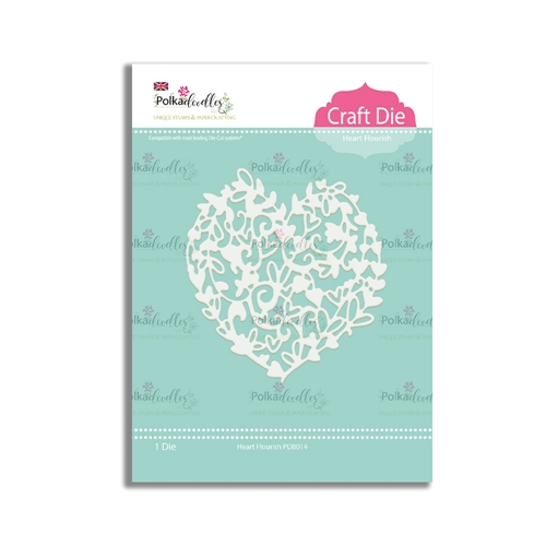 Polkadoodles HEART FLOURISH Craft Dies pd8014 Preview Image