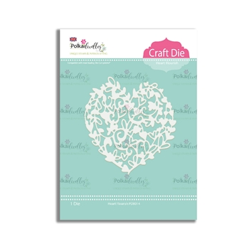 Polkadoodles HEART FLOURISH Craft Dies pd8014