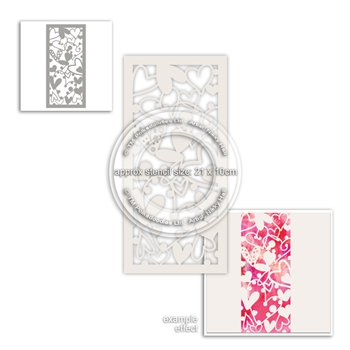 Polkadoodles SWEETHEARTS Stencil pd8006