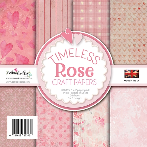 Polkadoodles TIMELESS ROSE 6x6 Paper Pack pd8005 Preview Image