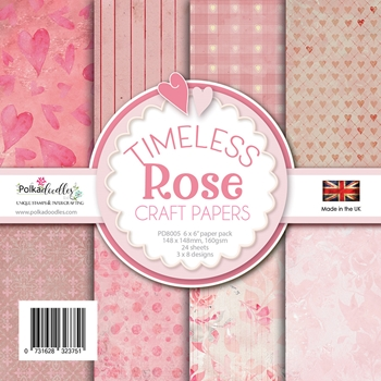 Polkadoodles TIMELESS ROSE 6x6 Paper Pack pd8005