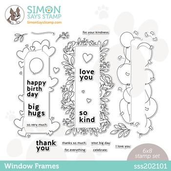 Simon Says Clear Stamps WINDOW FRAMES SSS202101 *