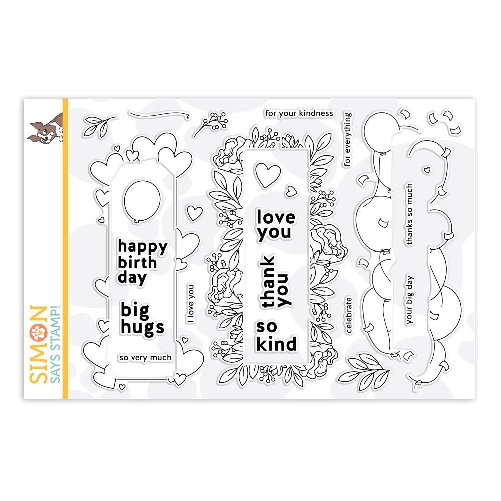 Simon's Exclusive Window Frames Clear Stamp Set