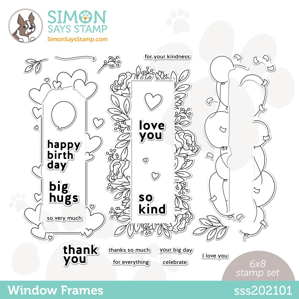 Simon Says Clear Stamps WINDOW FRAMES SSS202101 zoom image