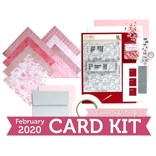 Simon Says Stamp Card Kit of The Month FEBRUARY 2020 WINDOW FRAMES ck0220 Preview Image