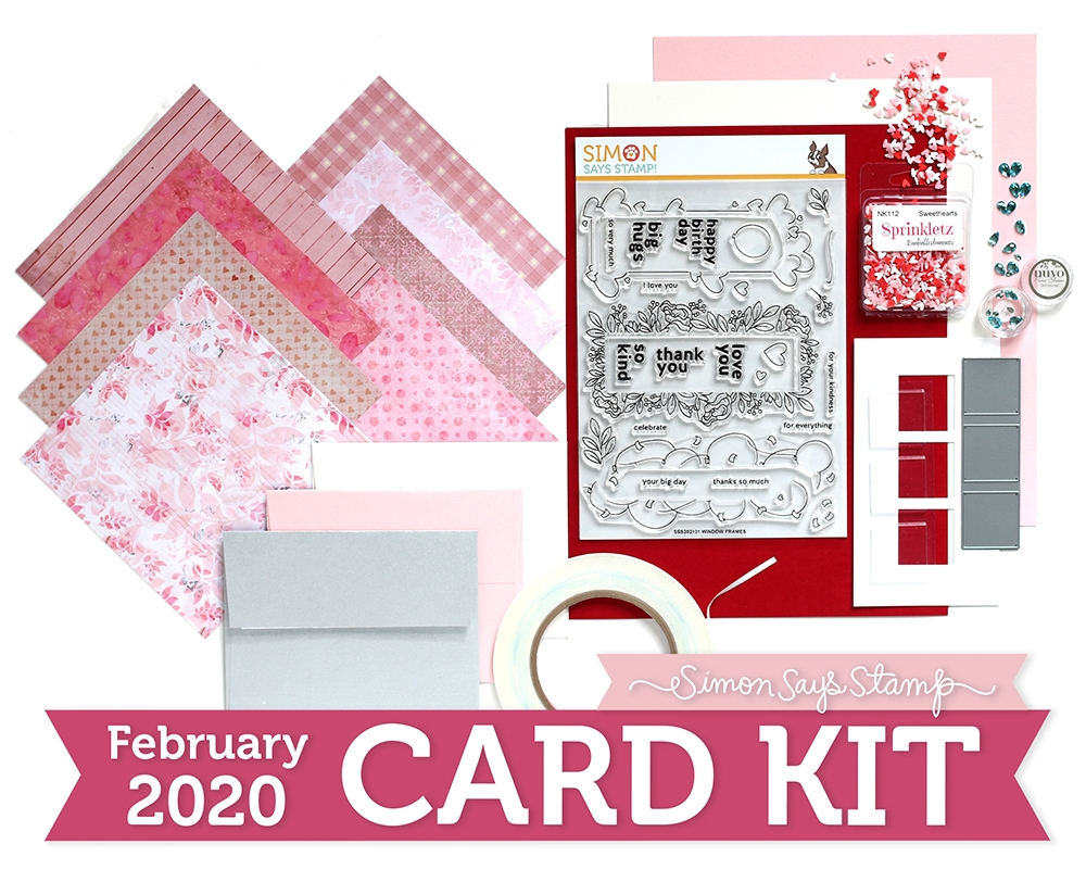Simon Says Stamp Card Kit of The Month FEBRUARY 2020 WINDOW FRAMES ck0220 zoom image