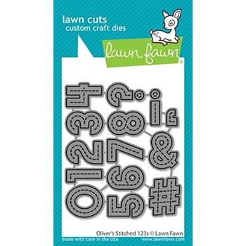 Lawn Fawn OLIVER'S STITCHED 123's Die Cuts lf2262