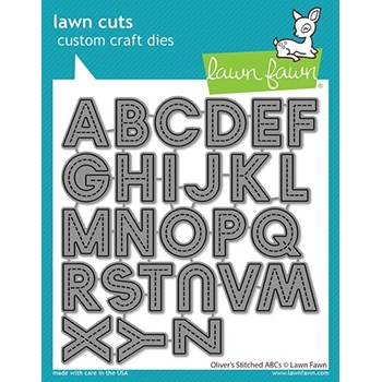 Lawn Fawn OLIVER'S STITCHED ABC's Die Cuts lf2261