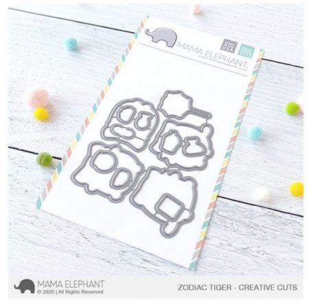 Mama Elephant ZODIAC TIGER Creative Cuts Steel Dies Preview Image