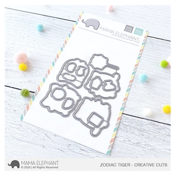 Mama Elephant ZODIAC TIGER Creative Cuts Steel Dies