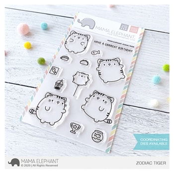 Mama Elephant Clear Stamps ZODIAC TIGER
