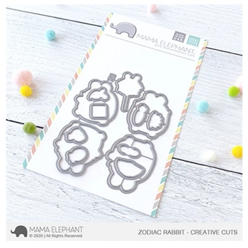 Mama Elephant ZODIAC RABBIT Creative Cuts Steel Dies