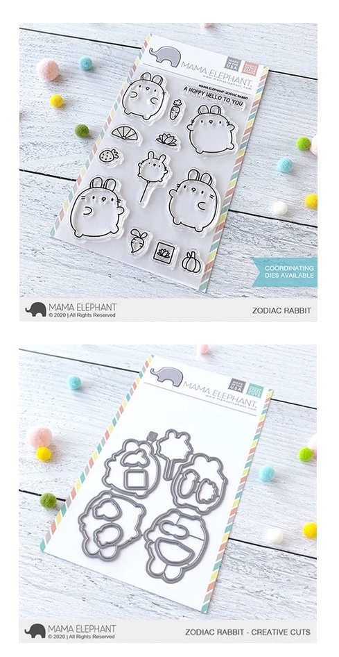 Mama Elephant Clear Stamp and Die MEPT733 Zodiac Rabbit SET zoom image