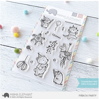 Mama Elephant Clear Stamps PINATA PARTY