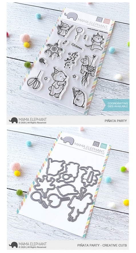 Mama Elephant Clear Stamp and Die MEPT736 Pinata Party SET zoom image