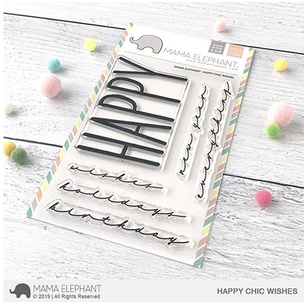 Mama Elephant Clear Stamps HAPPY CHIC WISHES  zoom image