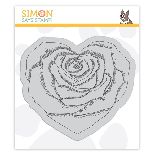 Simon Says Cling Stamp HEART ROSE SSS102112 Preview Image
