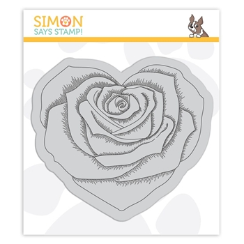 Simon Says Cling Stamp HEART ROSE SSS102112