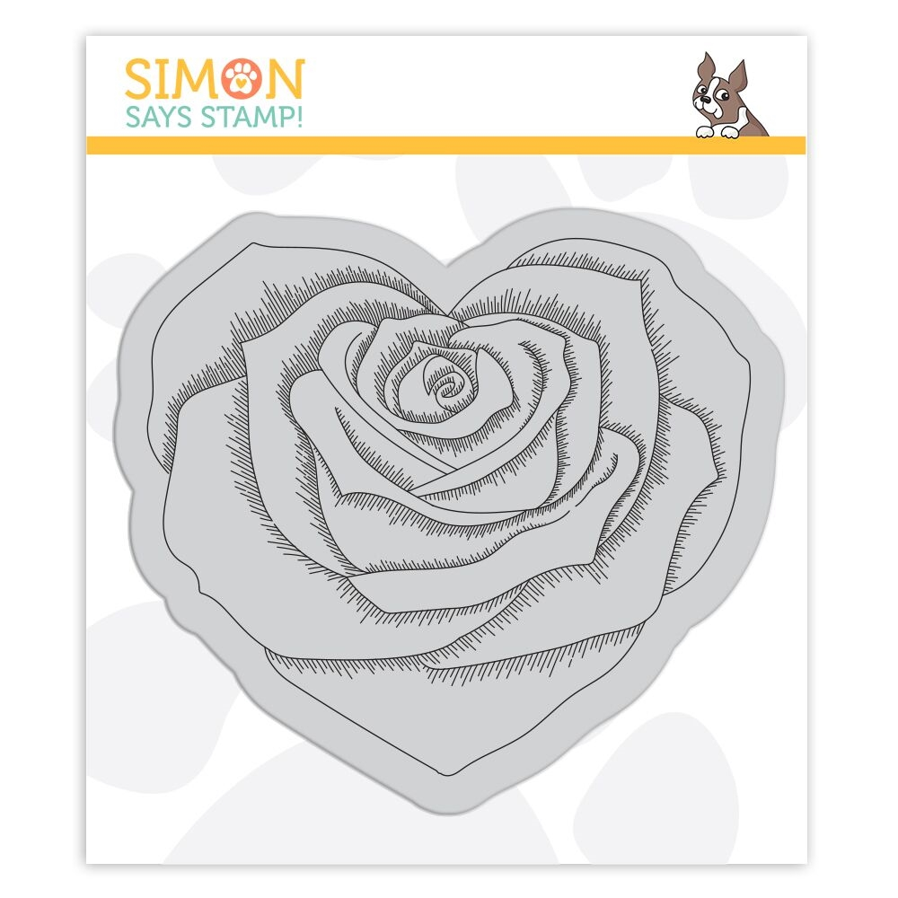 Simon Says Cling Stamp HEART ROSE SSS102112 zoom image