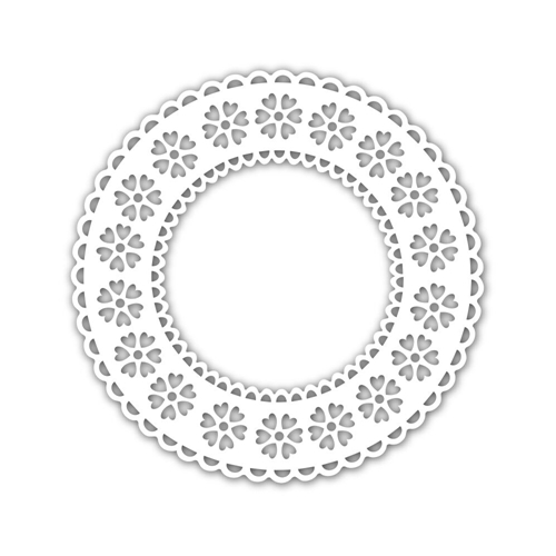 Simon Says Stamp Stencil HEART PATTERN DOILY SSST121472 Preview Image