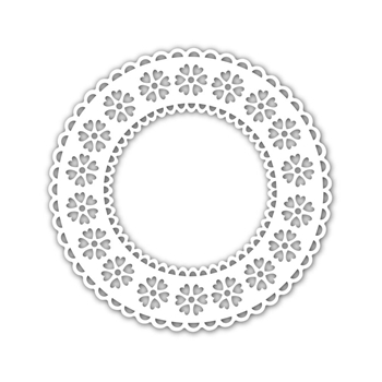 Simon Says Stamp Stencil HEART PATTERN DOILY SSST121472