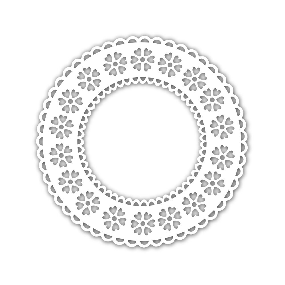 Simon Says Stamp Stencil HEART PATTERN DOILY SSST121472 zoom image