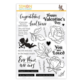Simon Says Clear Stamps BE MY VALENTINE SSS202111