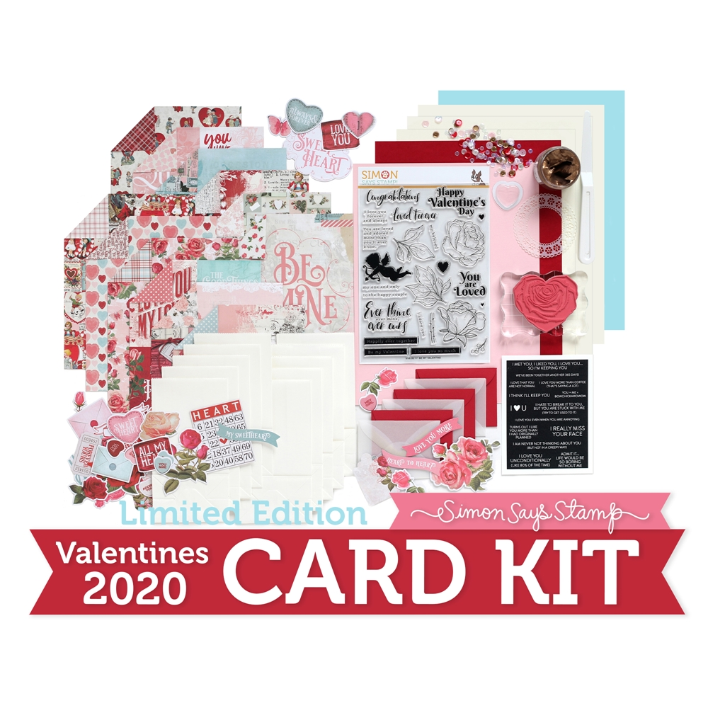 Limited Edition Simon Says Stamp Card Kit VALENTINE 2020 sssvck20 zoom image